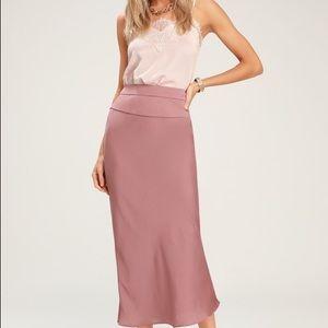 Free people normani silk midi skirt